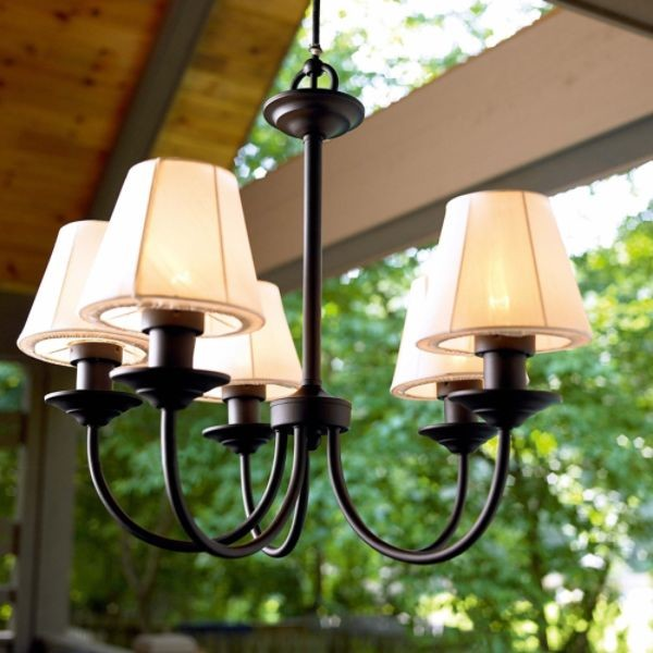 Garden Oasis Electric Chandelier - cutting-edge - outside lighting ... - Outdoor Lighting Chandeliers