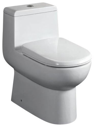 EAGO TB351 One Piece Dual Flush Ultra Low Flush Eco Friendly White Toilet modern-toilets