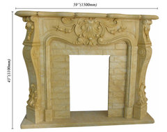 Stone Fireplace Mantels traditional-fireplace-accessories