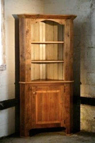 Corner Cabinet With Open Top rustic