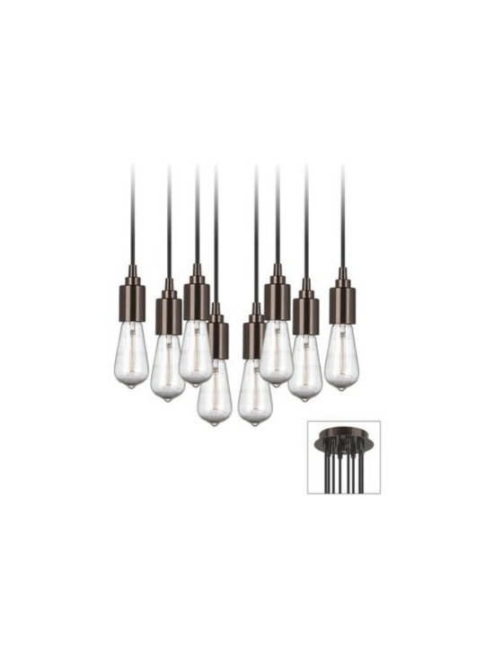 Europa 1910 Edison Bulb Adjustable Bronze Swag Chandelier -