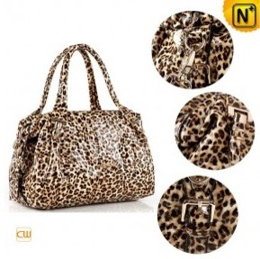 Women Leopard Leather Handbags - cwmalls.com modern 