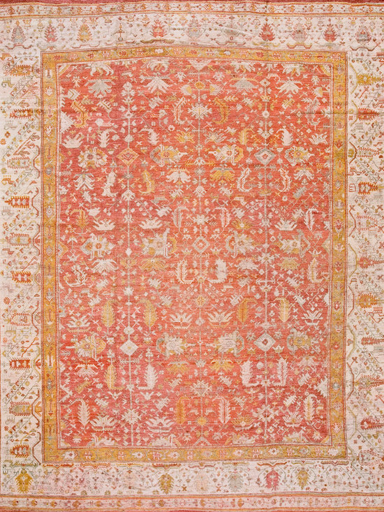 "Antique Turkish Oushak Carpets - #19149 antique Turkish Oushak carpet 11'10"" x 14'0"""