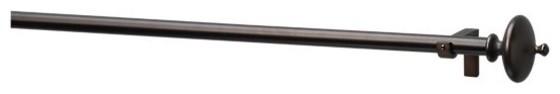 "Bronze Urn .75""x28""48"" Curtain Rod Set modern-curtain-rods"