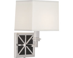 Directoire Wall Sconce, Silver Plate/White Glass contemporary-wall-lighting