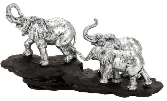 Polystone Elephant A Walking Elephant traditional-artwork