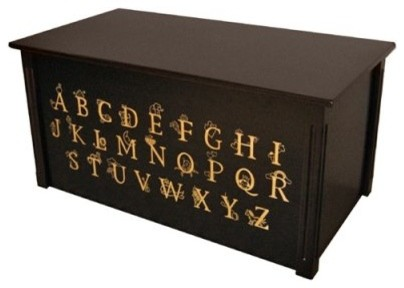 Wood Creations Espresso Finish ABC Toy Box modern-kids-products