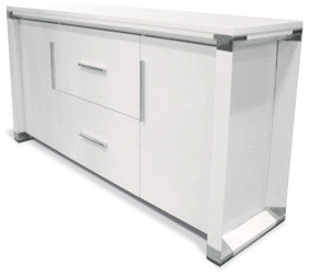 500 Series Credenza in White Matte Finish modern-filing-cabinets