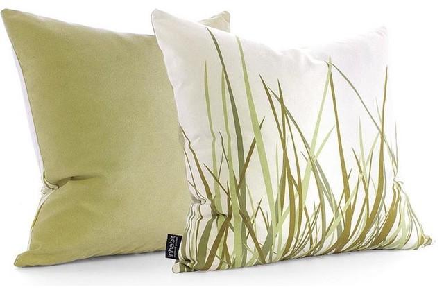 Modern Green Pillow : Inhabit Grass Pillow, Summer Grass Green - Modern - Decorative Pillows - by 2Modern