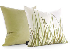 Inhabit Grass Pillow, Summer Grass Green modern-pillows