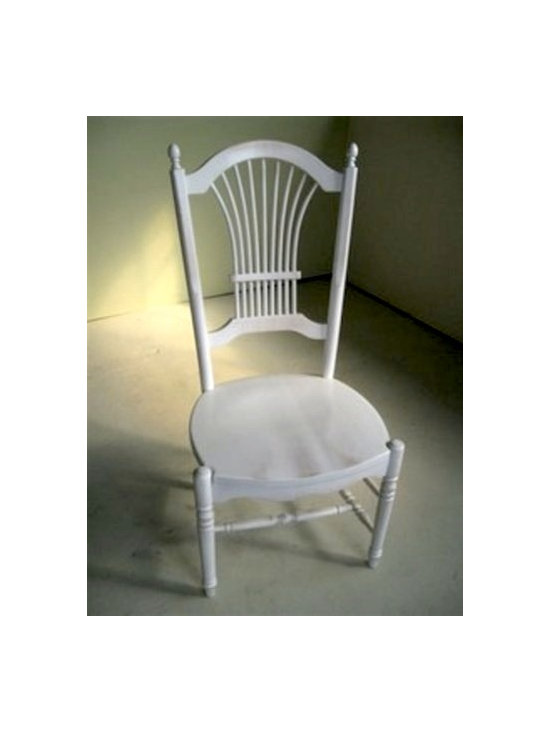 Fan Chair In Snow White Color - Made by http://www.ecustomfinishes.com
