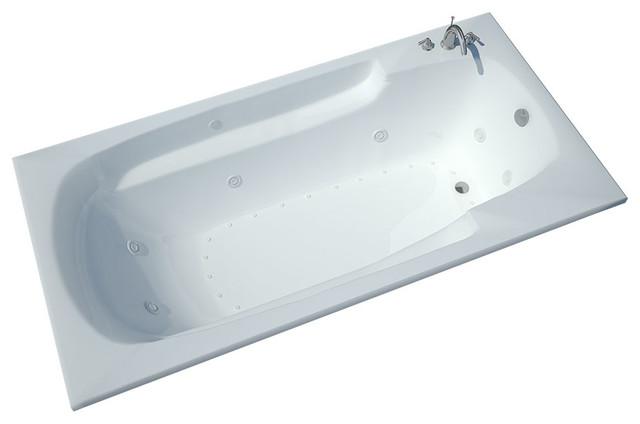 Atlantis Tubs 3660EDR Eros 36x60x23 Inch Whirlpool Jetted Bathtub traditional-bathtubs