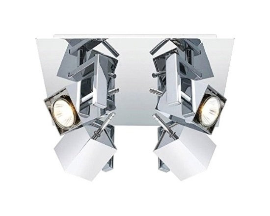 "Eglo Lighting - Contemporary Eglo Manao 4-Spot Chrome Square Track Light Fixture - Dazzling modern 4-spotlight square track fixture. Chrome finish. Metal construction. Includes four 50 watt GU10 bulbs. Adjustable heads. 11 3/4"" wide. 11 3/4"" deep. 5 3/4"" high.  Dazzling modern 4-spotlight square track fixture.  Chrome finish.  Metal construction.  Includes four 50 watt GU10 bulbs.  Adjustable heads.  11 3/4"" wide.  11 3/4"" deep.  5 3/4"" high."