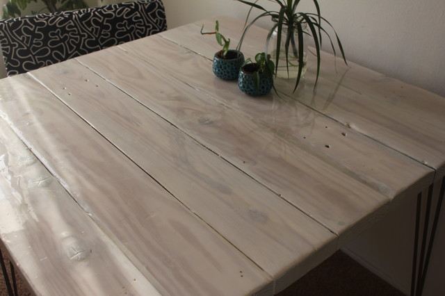 Whitewash Reclaimed Wood Dining Table Rustic Dining