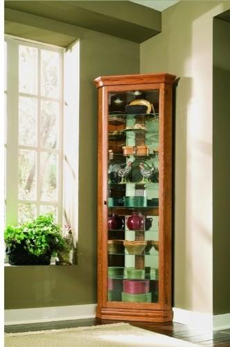 Keepsakes Corner Curio Cabinet - Modern - Kitchen Cabinetry - by Wayfair