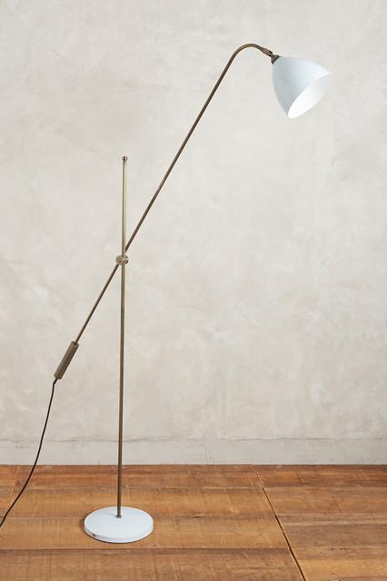 Task overreach floor lamp contemporary floor lamps for Task lighting floor lamp