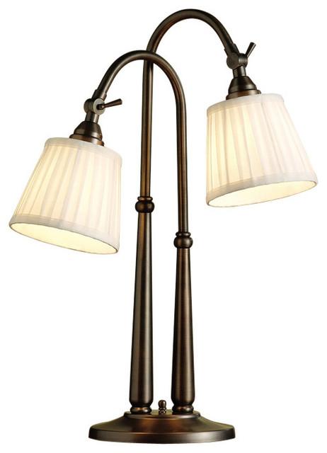Kichler Lighting BBZ Blaine Burnished Bronze Desk Lamp Farmhouse Tab