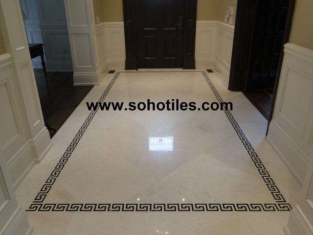 Vanilla Cream Polished Marble Hallway Residential Toronto
