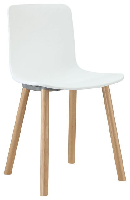 Modern Side Chair in Snowflake White modern-chairs