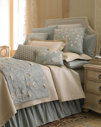 """Sea Blue"" Bed Linens  traditional-bedding"