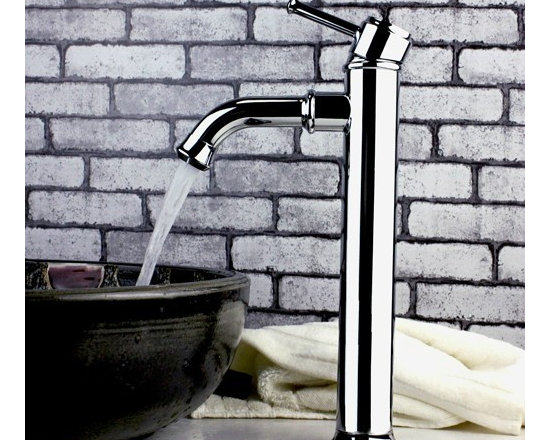 Chrome Polished Pull out Bathroom Faucet - Complete parts and all install fittings are included