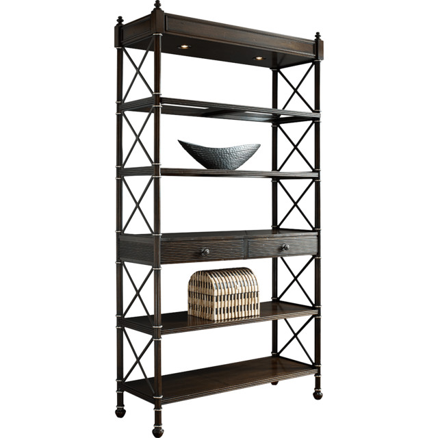Fine Furniture Design Walnut Wall Etagere traditional-accent-chairs