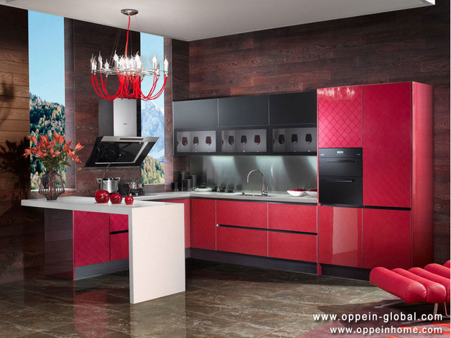 Acrylic Kitchen Cabinet Traditional Kitchen Cabinetry Other