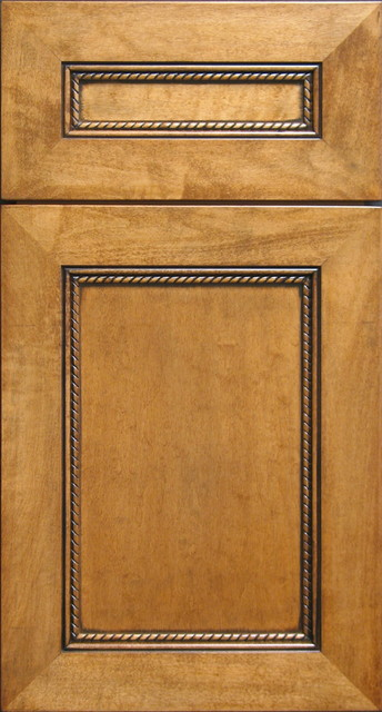 Eastern Maple Cabinet door with Rope Moulding & Black accent Chalking - other metro - by Style ...