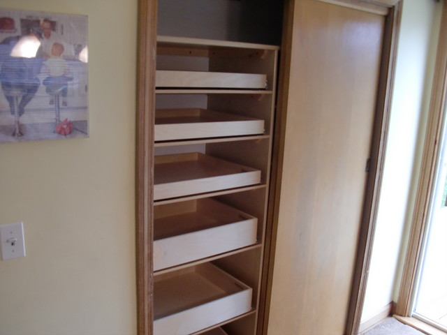 Closet & Walk-In Pantry Roll Out Shelves - boston - by ShelfGenie of ...