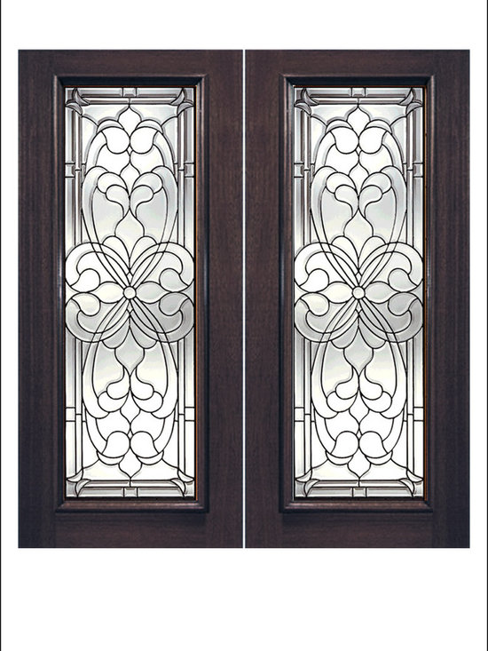 Exterior and Interior Beveled Glass Doors Model # H -