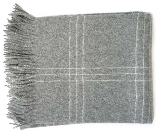 Linen Way grey throw modern-throws