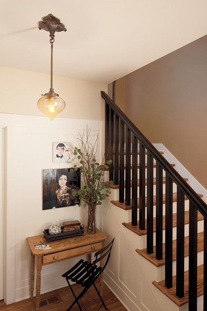 Rejuvenation: Entry eclectic staircase