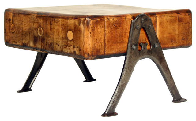 Vintage Industrial Solid Maple Butcher Block Table ...