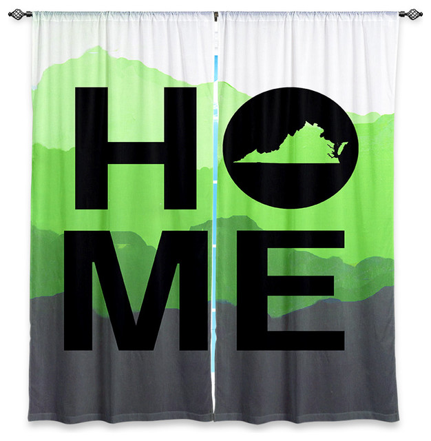 Window Curtains Unlined - Jackie Phillips Home Virginia Green contemporary-curtains