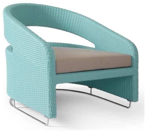 Lebello Modern Outdoor Wicker Patio Lounge Chair Contemporary Outdoor Lou