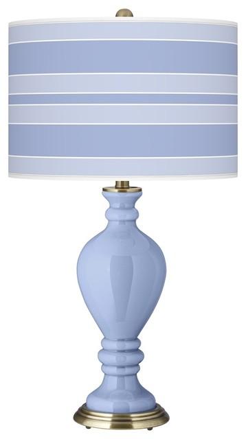 Contemporary Lilac Bold Stripe Civitia Table Lamp contemporary-table-lamps