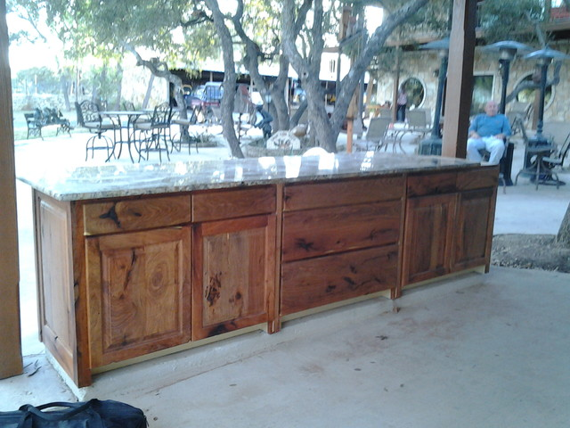 Mesquite Custom Kitchen Rustic Austin By Top Quality Cabinets
