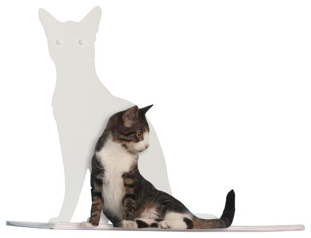 Cat Silhouette Cat Shelf Perch contemporary-pet-supplies