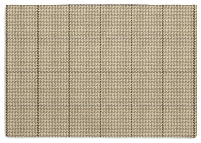 Tan Small Houndstooth Custom Placemat Set contemporary-placemats
