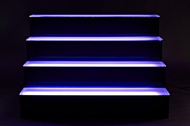 Back Bar liquor Display Shelves Blue Lighting From Armana Productions - Traditional - Wall ...