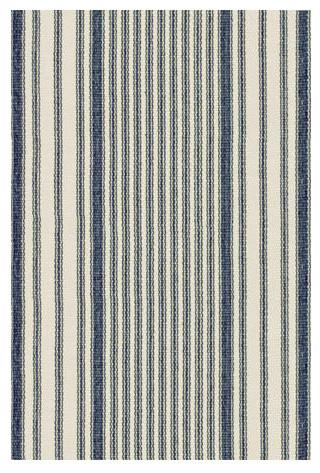 Woven Mattress Ticking Rug modern-rugs