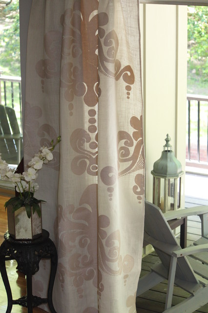 Couture Dreams Enchantique Jute Ivory Window Panels  curtains