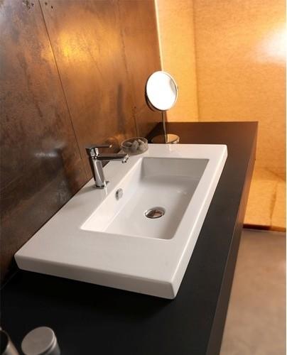 Cangas Ceramic Bathroom Sink with Overflow modern-bath-products