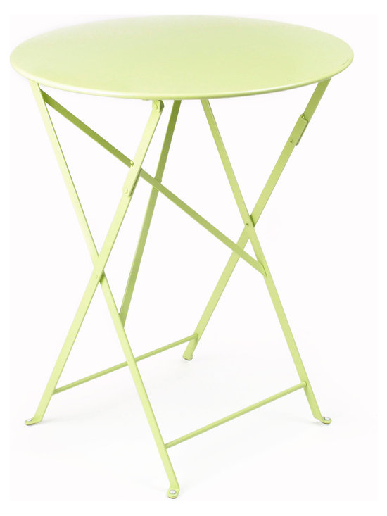 """Fermob Bistro 24"""" Table - 0245 Fermob Aniseed Green 24"""" Bistro Table"""