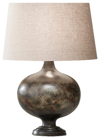 Weathered Black Lamp contemporary-table-lamps