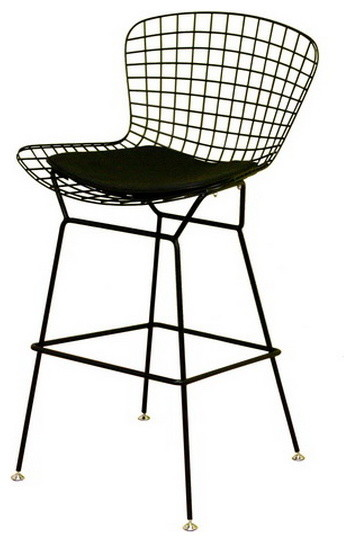 Baxton Studio Black Wire Barstool Contemporary Bar