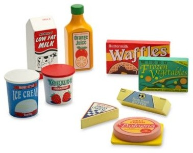 Melissa & Doug Wooden Fridge Food Set contemporary-kids-toys-and-games