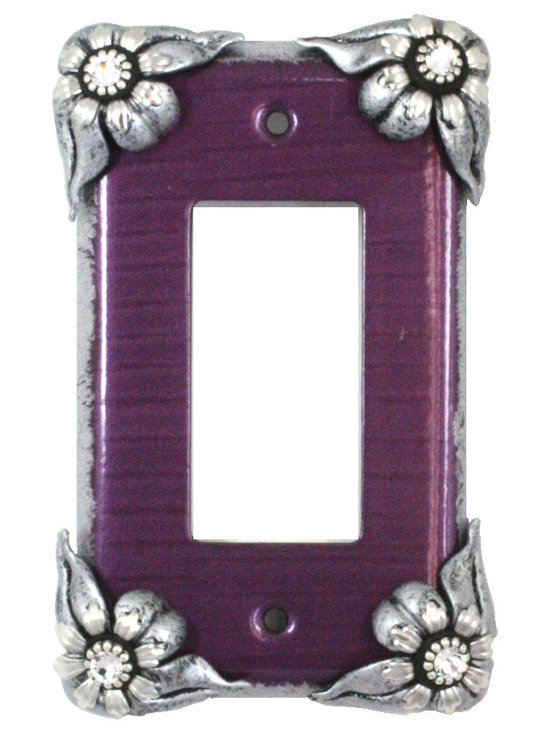 Bloomer Violet Single Decora Switch Plate -