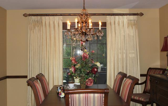 Drapery Panels transitional-dining-room