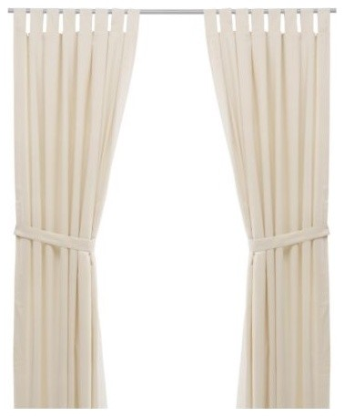 BOMULL Pair of curtains with tie-backs modern-curtains